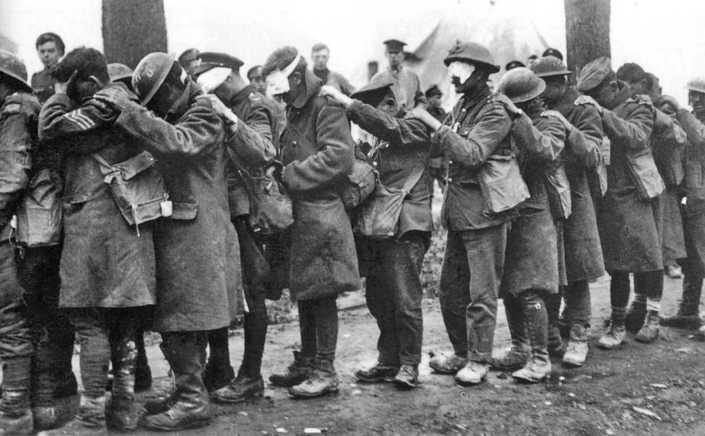 WorldWar I British_55th_Division_gas_casualties_10_April_1918